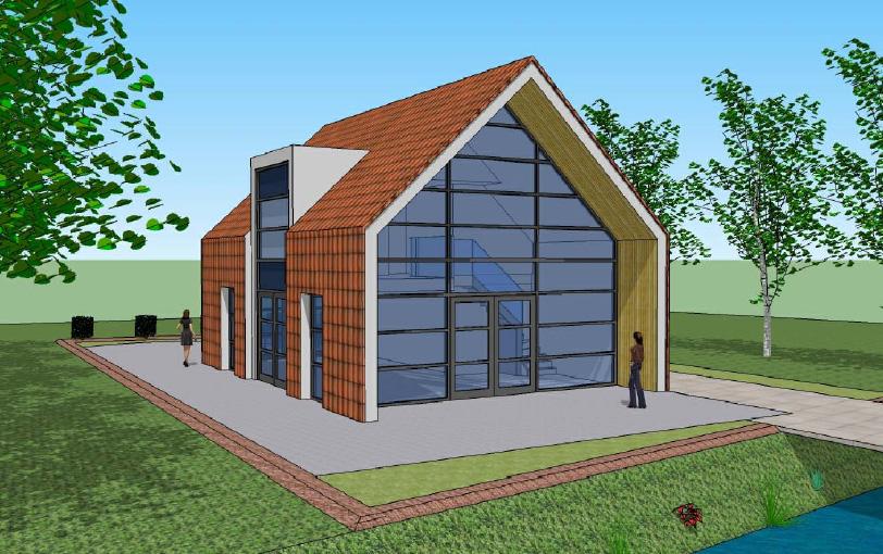 Moderne stijl woning poortinga bouw