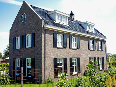 Voorbeelden nieuwbouw poortinga bouw - Kleur gevel eigentijds huis ...